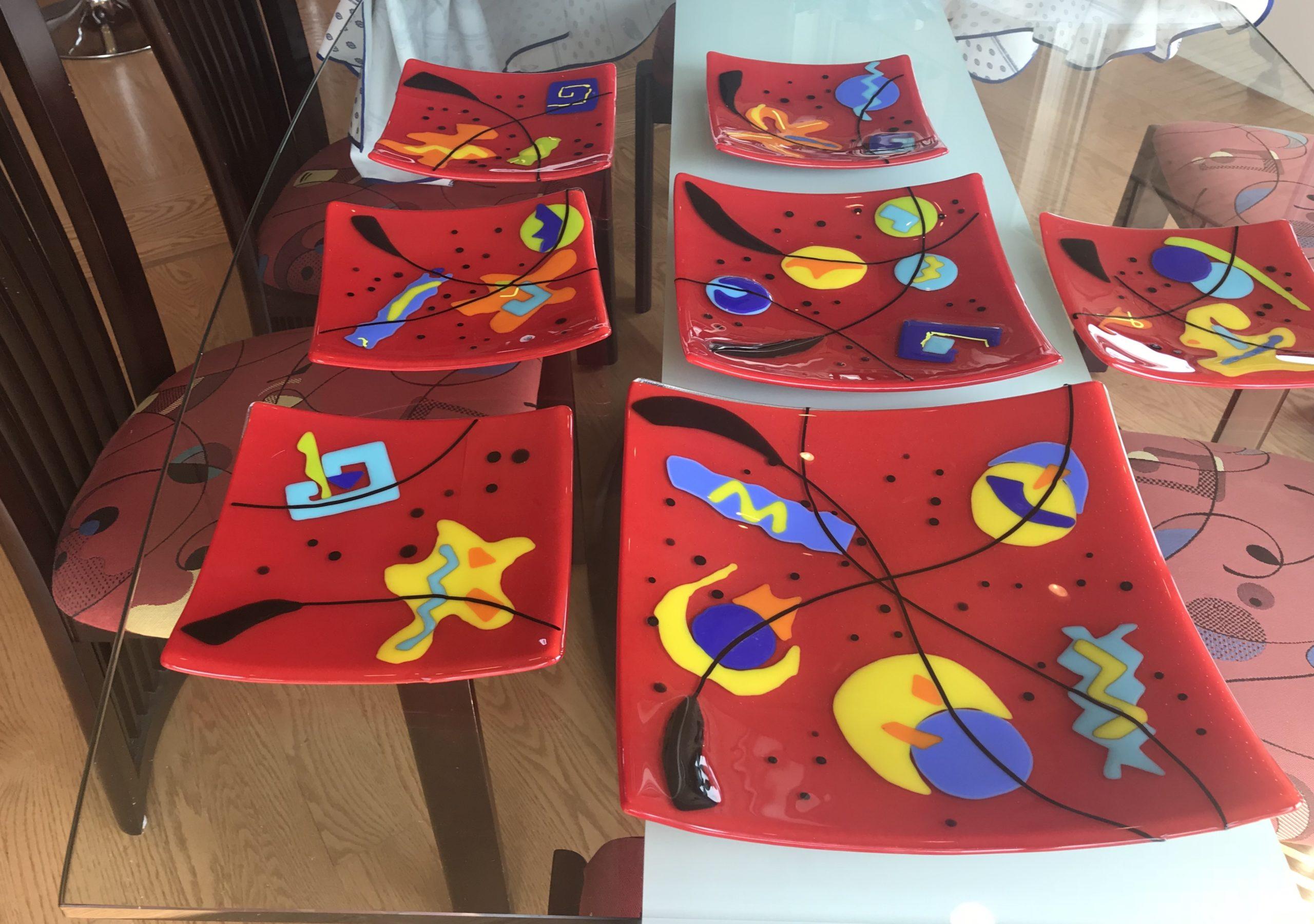 Najia Art Glass Plates