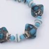 Arizona Focal beads in turquoise art glass and sterling silver accents