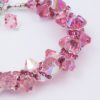 Blush Rock Candy Bracelet Closeup by Vibrant and Sage with pink Swarovski Crystals and a silver toggle clasp