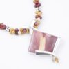 Courage Necklace Focal Closeup by Vibrant and Sage with Semi Precious Stones & Sterling Silver