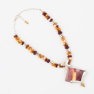 Courage Necklace by Vibrant and Sage with Semi Precious Stones & Sterling Silver