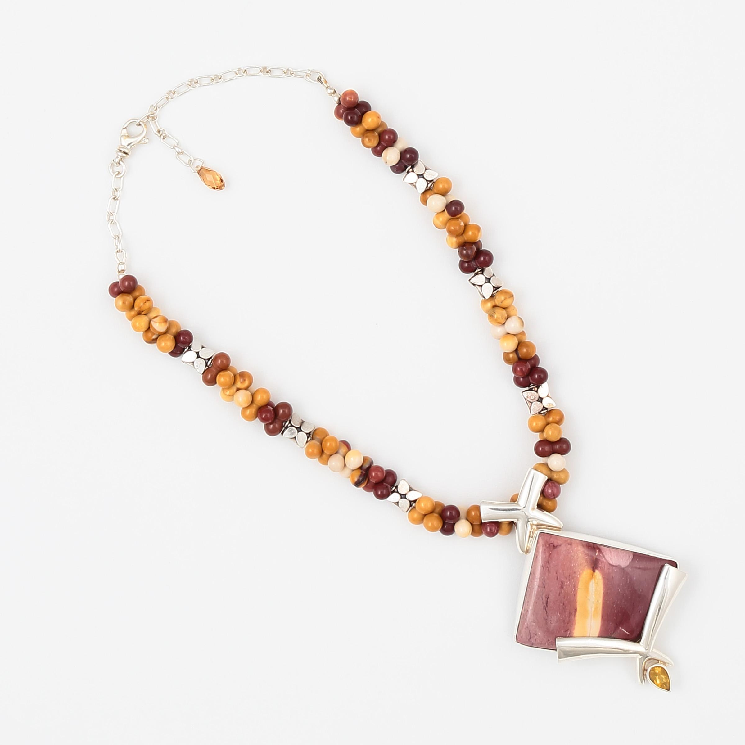 Courage Necklace – Semi Precious Stones & Sterling Silver