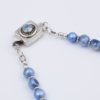Drizzle Necklace Clasp Closeup by Vibrant and Sage with Blue Pearls, Swarovski Crystals & Sterling Silver