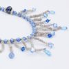 Drizzle Necklace Closeup by Vibrant and Sage with Blue Pearls, Swarovski Crystals & Sterling Silver