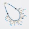 Drizzle Necklace by Vibrant and Sage with Blue Pearls, Swarovski Crystals & Sterling Silver