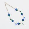 Drop in the Ocean Necklace by Vibrant and Sage, made with Blue and Green Art Glass, Swarovski Crystals and Sterling Silver