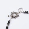 Empire Necklace Clasp Closeup by Vibrant and Sage with Black Swarovski Crystals