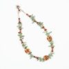 Gypsy Amber Waves Necklace with Sage Green by Vibrant and Sage with Amber Semiprecious Stones and Swarovski crystal in Sterling Silver