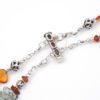 Gypsy Amber Waves Clasp Closeup by Vibrant and Sage with Amber Semiprecious Stones and Swarovski crystal in Sterling Silver