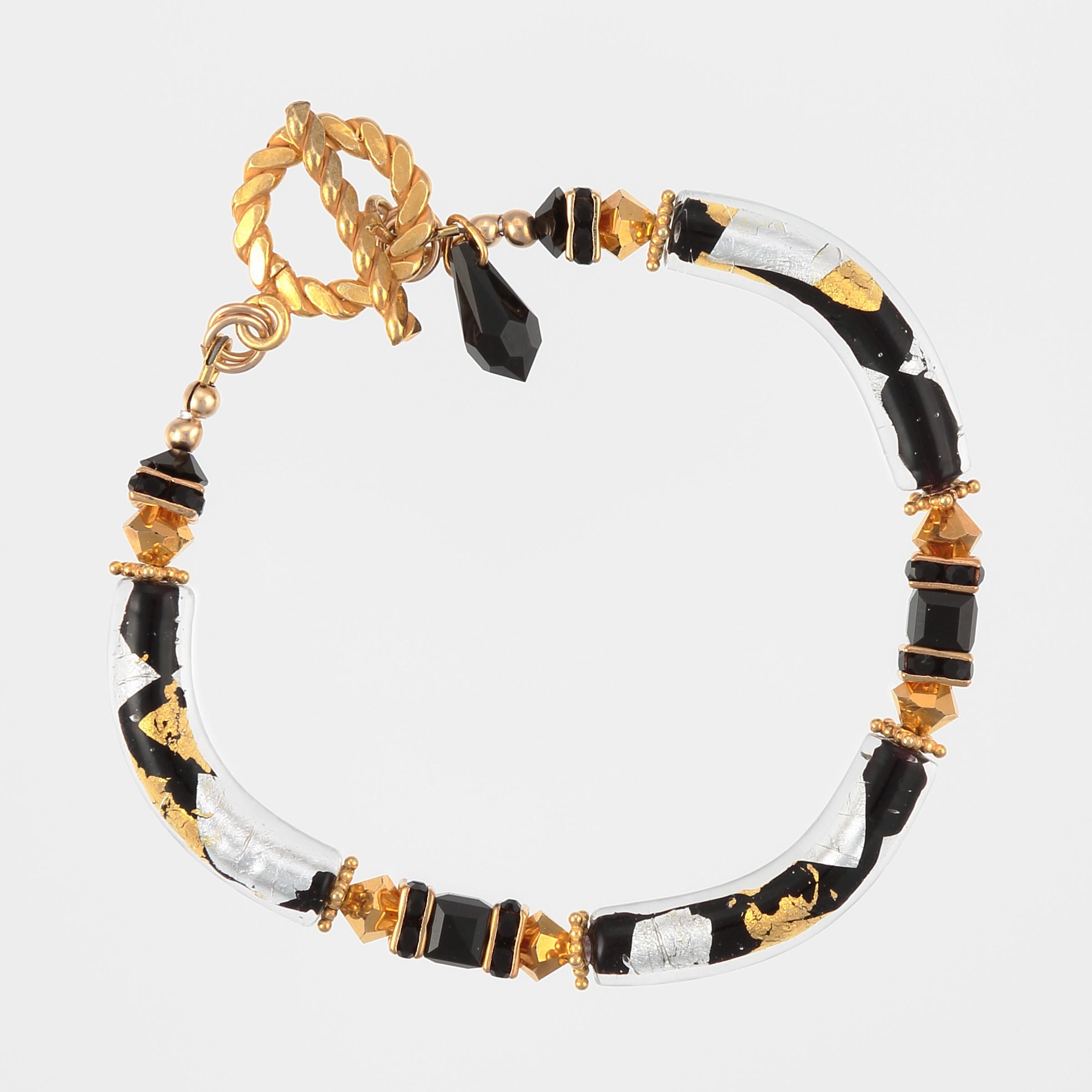 Gilded Zebra Bracelet