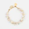 Golden Crystal Rock Candy Bracelet by Vibrant and Sage with gold chain and clear Swarovski crystals