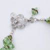 Green with Envy Closeup Clasp Rock Candy Bracelet by Vibrant and Sage with Swarovski Crystals