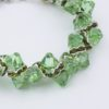 Green with Envy Closeup Rock Candy Bracelet by Vibrant and Sage with Swarovski Crystals