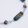 Halo Necklace Focal Closeup by Vibrant and Sage with art glass and sterling silver