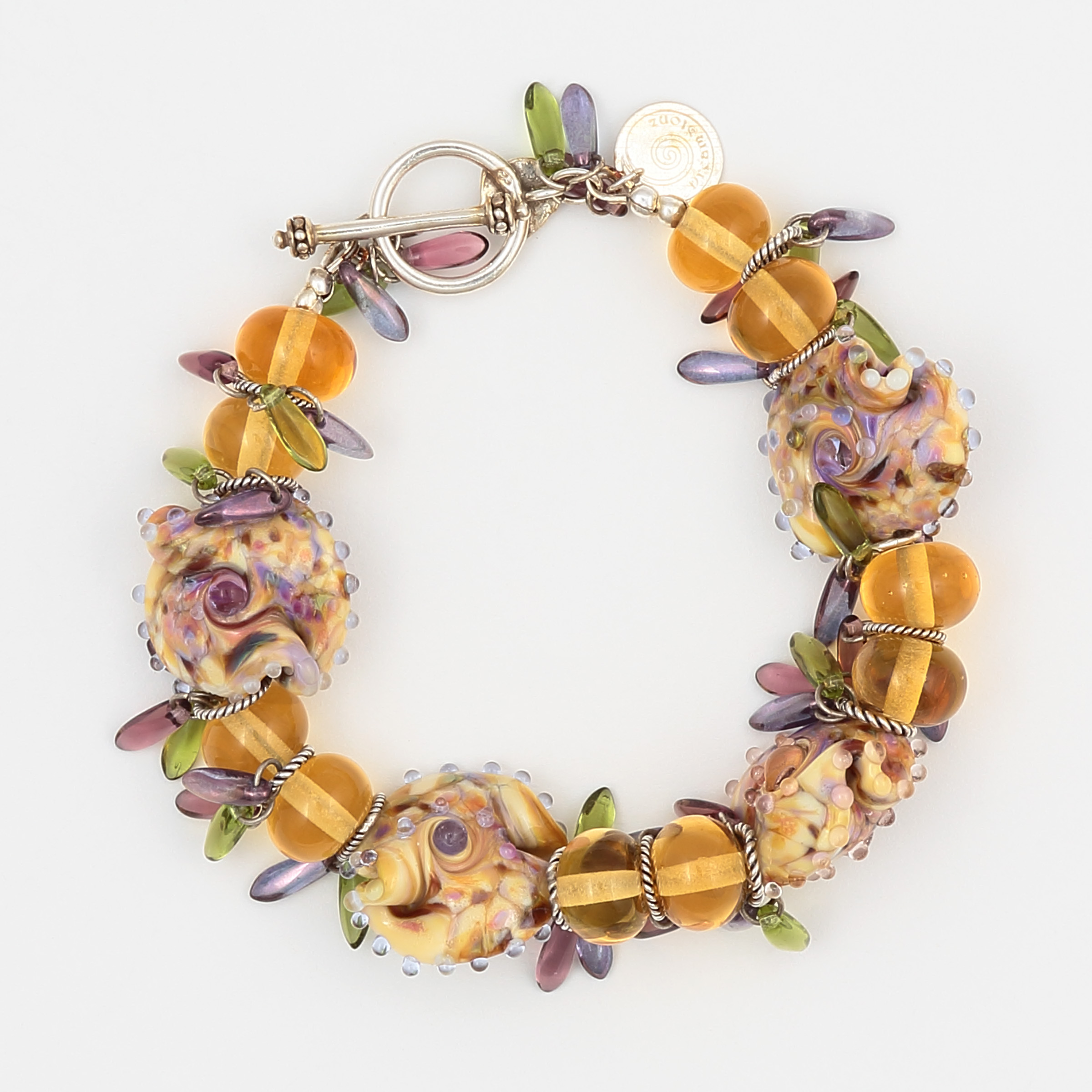 High Tea Bracelet – Handmade Art Glass