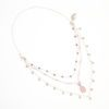 Ingenuity Expanded 2-in-1 Convertible Necklace by Vibrant and Sage with rose semi precious stones and sterling silver