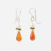 Journey Earrings Set by Vibrant and Sage in Sterling Silver with amber and green Swarovski crystals