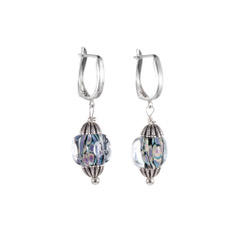 Lady Boss Earrings by Vibrant and Sage in Art Glass and Sterling Silver