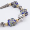 Marrakesh Bracelet Closeup by Vibrant and Sage with Art Glass, Gemstones and Sterling Silver