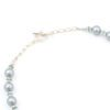 Mists of Avalon Necklace Clasp Closeup with Art Glass & Swarovski Crystal Pearls