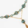 Mists of Avalon Necklace Closeup with Art Glass & Swarovski Crystal Pearls