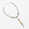 Mists of Avalon Necklace by Vibrant and Sage with Art Glass & Swarovski Crystal Pearls