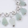 Om Bracelet Closeup by Vibrant and Sage with Aquamarine Gemstones and Sterling Silver