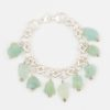 Om Bracelet by Vibrant and Sage with Aquamarine Gemstones and Sterling Silver