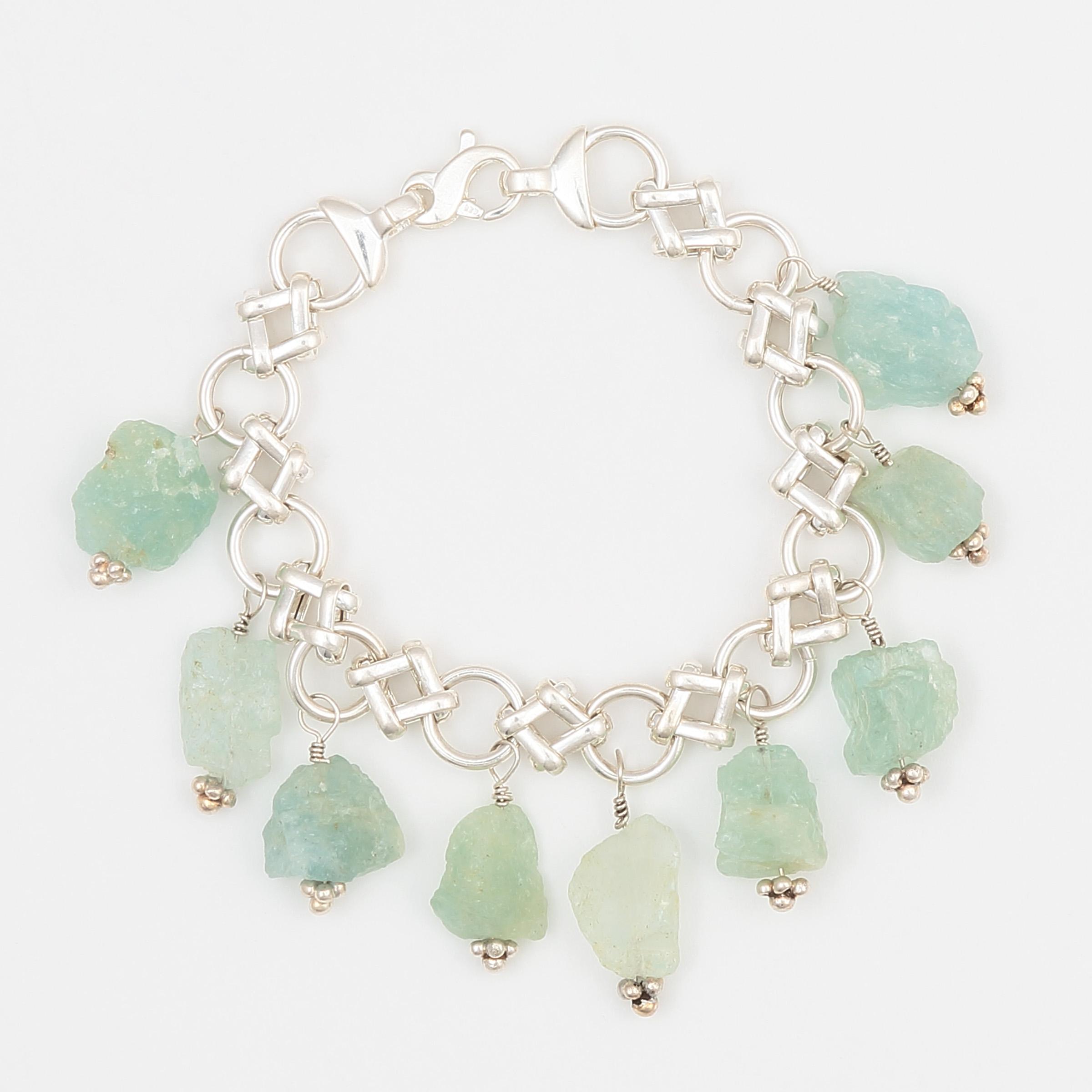 Om Bracelet – Gemstones and Sterling Silver