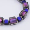 Purple Haze Bracelet Closeup by Vibrant and Sage with Art Glass & Sterling Silver