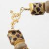 Savannah Bracelet Clasp Closeup, made with art glass and vermeil