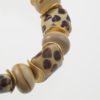 Savannah Bracelet Art Glass Closeup, made with art glass and vermeil