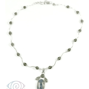 Smoke on the Lake Necklace by Vibrant and Sage with natural gemstones & sterling silver