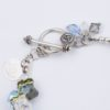 Closeup Clasp Sea Grass Rock Candy Bracelet by Vibrant and Sage with Swarovski Crystals