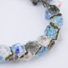 Closeup Sea Grass Rock Candy Bracelet by Vibrant and Sage with Swarovski Crystals