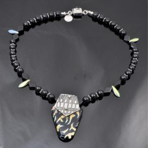 Mood by Vibrant and Sage Side 1, a Convertible Necklace with Glass and Sterling Silver Necklace