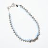 Zipper Necklace from Vibrant and Sage Jewellery with sky blue and black Swarovski crystals in Sterling Silver